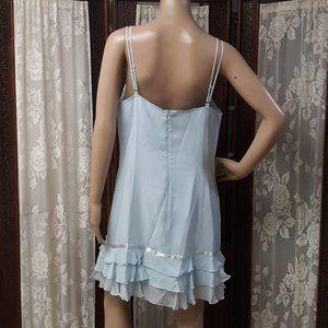 kenzie Dresses - Baby Blue Silk Kenzie Baby Doll Dress NWT